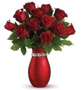 20 Red Roses with Keepsake Vase