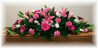 All pink casket sheaf
