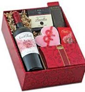 Assortment of Chocolates & Bottle of Wine