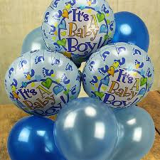 Baby Boy Balloon Tree