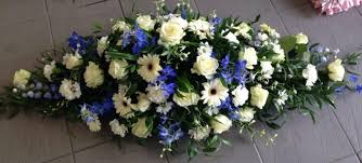 CASKET TRIBUTE IN BLUE