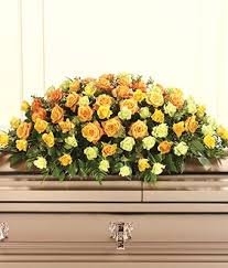 Casket Tribute in Yellow
