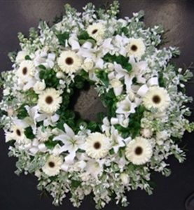 Large White Wreath