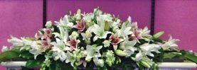Oriental Lilly Casket