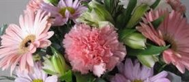 Sim Carnation Mix Wedding Bouquet 2.