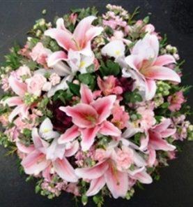 Small Oriental Lillies Wreath