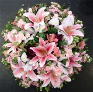Small Oriental Lillies Wreath