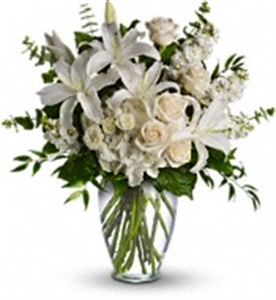 Vase Arrangements of White Flowers