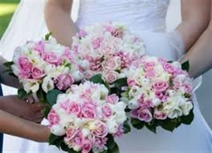 Wedding package, Bridal Bouquets, Bridesmaid Flowers