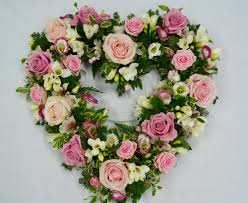 Funeral heart, Roses for funerals, Sympathy Flowers,