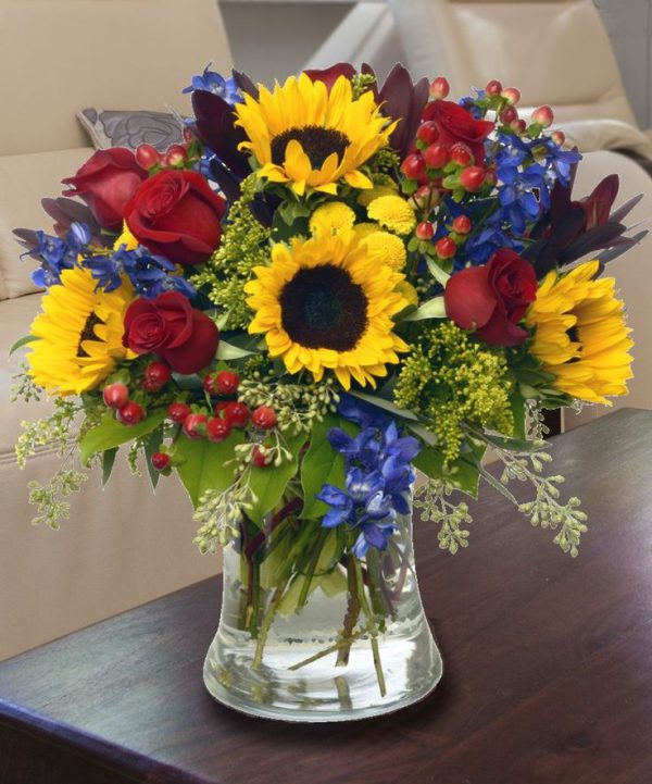 Vase arrangement, Birthday Flowers, Anniversary, Get Well, Mother's Day